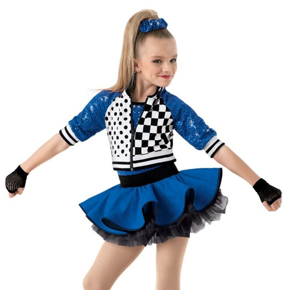 FISHNET JAZZ DANCE COSTUME PIECES Capri Pants Small child Turquoise blue